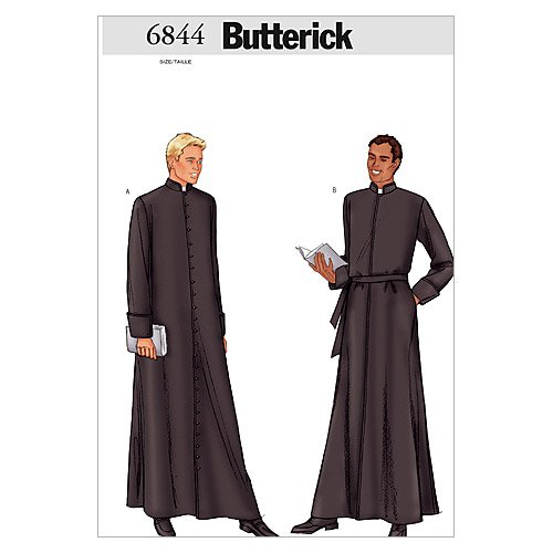 Butterick Patterns B6844 Men's Robe, Size 44-46-48 (Mens Robe Sewing Pattern)