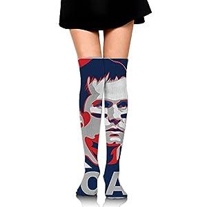 Tom-Brady GO.AT Compression Socks For Women Athletic Running Socks For Nurses For Travel Athletic Compression Socks 20-30 Mmhg - Over Knee High Knit Boot Stockings Leg Warmer
