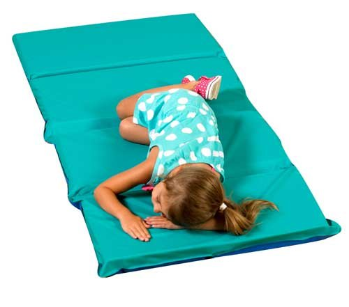 - H/S 4 Fold Infection Control Mat (5 Pack) Color: Teal & Blue