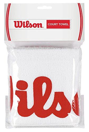 Wilson Toalla deportiva para manos, Sport Court, Blanco/Rojo, WRZ540000