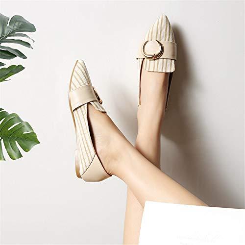 la de Zapatos Obra UE Boca 35 Antideslizantes 35 la Baja Zapatos Acentuados Los Planos los Planos de FLYRCX Forman EU cómodos Zxv1SqY