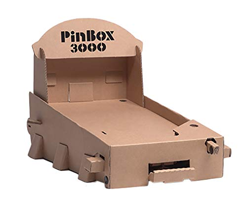 Cardboard Teck Instantute PinBox 3000 DIY Customizable Cardboard Make Your Own Pinball Machine Kit with No Tool Assembly