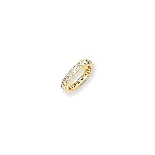 Amazon.com: Jewels By Lux 14K Yellow Gold A Diamond Eternity ...