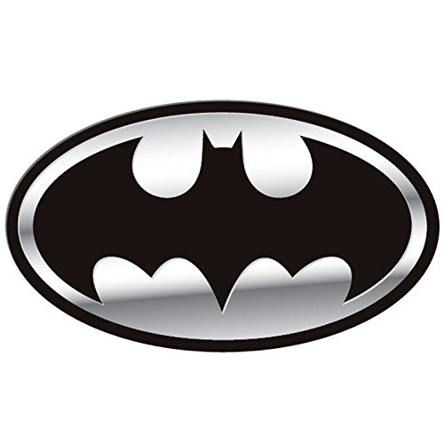 Free Comic Book Day Logo: Batman Chrome And Black Silver Bat Logo DC Comics Auto Car