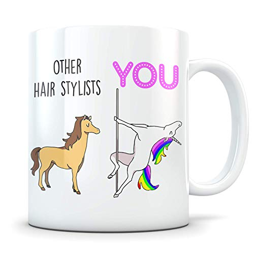 Funny Hair Stylist Gift - Best Hairdresser Coffee Mug for Men and Women - Great Appreciation Cup for a Thank You or Graduation Present for Him or Her