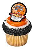 Bag of 12 ~ New York Knicks Sticker Ring ~ Cake / Cupcake Topper, Health Care Stuffs