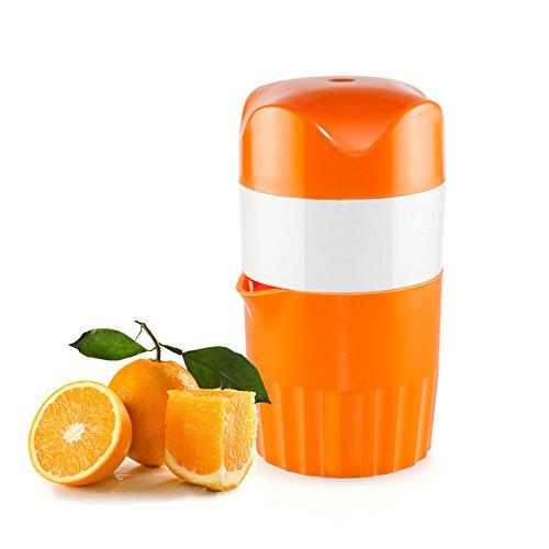 Upintek Lemon Juicer Squeezer, Manual Lid Rotation Citrus Juicer Capacity Container 16 oz.for Fruit Orange Citrus Squeezer (16 Ounce Citrus Juicer)