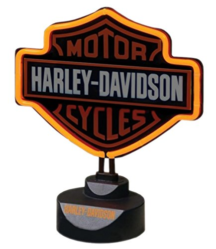 Harley-Davidson Molded Neon Orange Lamp