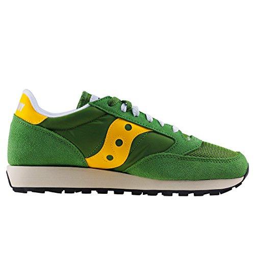 Saucony Jazz Originele Vintage Heren Sneakers Verde Gialla