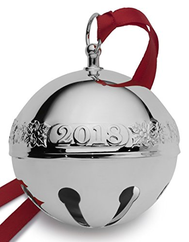 Wallace 2018 Sleigh Bell Plated Christmas Holiday Ornament, 48th Edition, Silver by Wallace