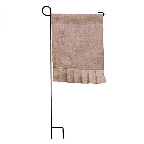Garden Flag Kit (3-Pack DIY Blank Burlap Jute Garden Flag for Yard Home Supplies Wedding Party Decoration Kit (rectangle))