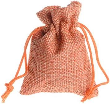 id/éal pour cr/éer un calendrier de lAvent ou comme sac cadeau beige Yalulu Lot de 50 mini sachets en toile de jute naturel