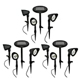 Intellibrands Set of 12 Solar Powered White LED Garden Lights - Garden Lights With No Hassle - Safer and More Elegant Than Traditional Outdoor Lighting!