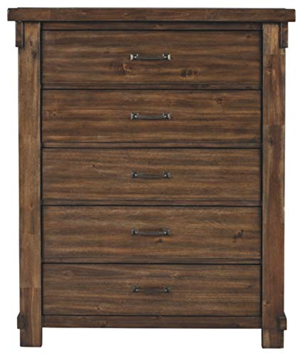 Bedroom Signature Design By Ashley – Lakeleigh Five Drawer Chest – Brown dresser