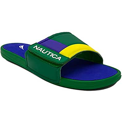 f5de1de800e4 Amazon.com  Nautica Men s Bower Athletic Slide