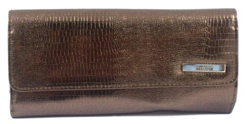 Kenneth Cole Reaction Bronze Lizard Tri Me A River Wallet, Bags Central