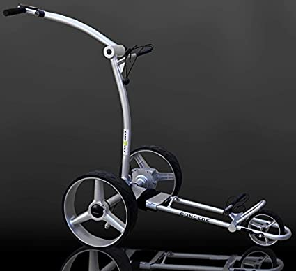 Caddy Golf Concede Elektro Golf Trolley Silber Mit Lithium Akku Amazon De Sport Freizeit
