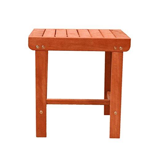 malibu v1802 outdoor patio wood side table natural lavorist. Black Bedroom Furniture Sets. Home Design Ideas