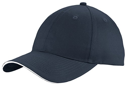 Port & Company Unstructured Sandwich Bill Cap C919 -Navy/ White OSFA (Company Sandwich Bill Cap)