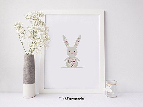 Bunny Illustration - Unframed art print poster or greeting card
