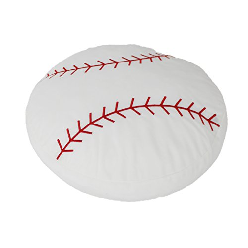 - CatchStar Stuffed Baseball Pillow Plush Fluffy Ball Throw Soft Durable Sports Toy Gift for Kids Room Decoration Summer Style