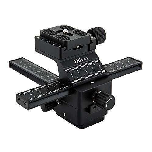 JJC Professional Camera Macro Rail Macro Photography Tools Accessories for Fuji Fujifilm X-T3 X-T2 X-T20 X-T10 X-T1 X-H1 X-PRO2 X-E3 X-E2S Sony A7R III II A7 III II A7S II A6500 A6300 A6000 and More