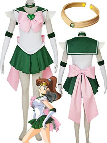 YOUYI Sailor Moon Sailor Jupiter Cosplay Jumper Kino Makoto Halloween (Female M) Green]()