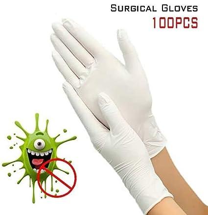 MECO 100 Pezzi Guanti Protettivi Nitrile Monouso Guanti Morbida Senza Polvere Senza Lattice Guanti Protezione per Antibatterica Ambientale Alimentare Cucina Esami Industriale Blu S