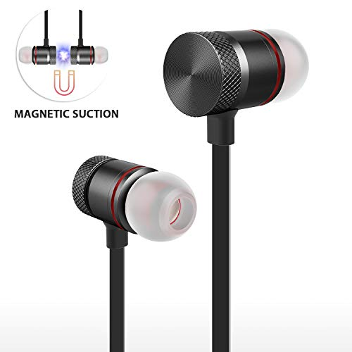 Bluetooth Headphones,ownta Wireless Headphones Magnetic Bluetooth Earbuds,Snug Fit for Running with Mic,Compatible iPhone/Samsung/Android Smartphone/iPad (CVC 6.0 Noise Cancelling Mic,aptX Stereo)