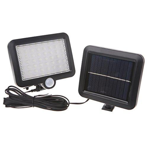 LIYUDL 56 LED Solar Powered PIR Motion Sensor Light Security Flood Outdoor Garden Landscape Lamp