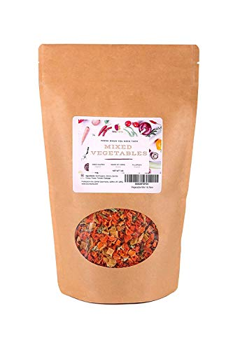 Gourmanity 1 lb Dehydrated Mixed Vegetables, All Natural, Gluten Free & Allergen Free, Dried Vegetable Soup Mix, Dried Ramen Vegetables, Dried Vegetables For Soup, Vegetable Soup Mix Dried