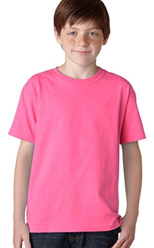 Gildan Heavy Cotton Youth T-Shirt_Safety Pink_Medium