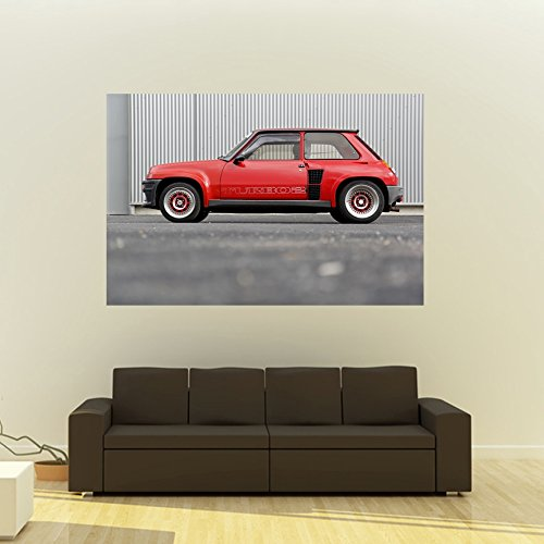 Amazon.com: Poster of Renault 5 Five Turbo 2 T2 Classic Hot Hatch HD 48 X 32 Inch Print: Posters & Prints