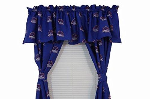 (Boise State Broncos - Set of (2) Printed Curtain Valance/Drape Sets (Drape Length 63
