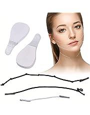 60 stuks onzichtbare gezichtsstickers, lift-gezichtsstickers, gezichtslifter, make-up facelifting gereedschap voor gezicht, lift band, V-vormige gezichtsstickers, onzichtbare dunne gezichtsstickers