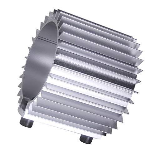 Baosity 1Pcs /Set Silver 3.21'' Dia Engine Oil Filter Cooler HeatSink Cover Cap Aluminum
