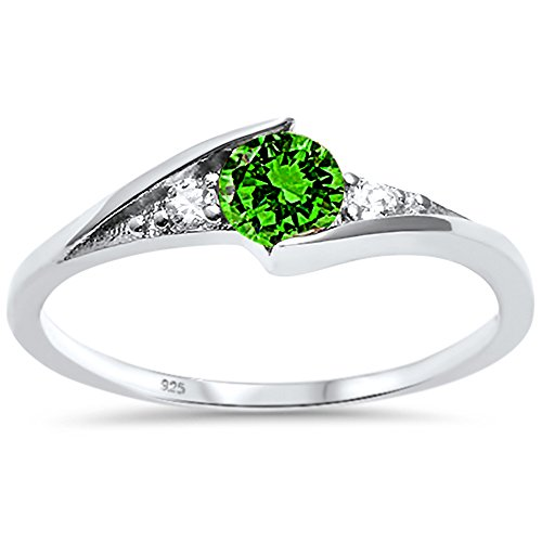 Emerald Solitaire Ring - 3