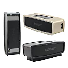 Luxury Metal Air Aluminum Bumper For Bose SoundLink Mini 2 Edge Case, Protective Pouch Bag Cover Case for Bose SoundLink Mini Bluetooth Speaker,Cover Ultra-Thin Frame For Bose Mini 2 (Black)