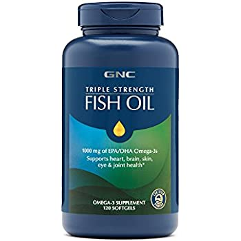 Gnc triple strength fish oil mini health for Does fish oil lower triglycerides