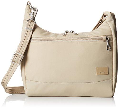 Pacsafe Citysafe CS100 Anti-Theft Travel Handbag, Almond
