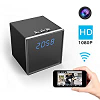 Corprit WiFi Hidden Spy Camera, Wireless Clock Nanny Cam HD 1080P Home Security Camera APP Remote View, Motion Detection Alarm Loop Recording