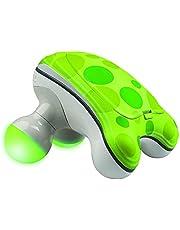Homedics Ribbit Handheld Mini Massager | Vibration Massage, Illuminated Feet, Battery Operated, Assorted Colors | Lightweight, Muscle Kneading for Back, Shoulders, Feet, Legs, & Neck