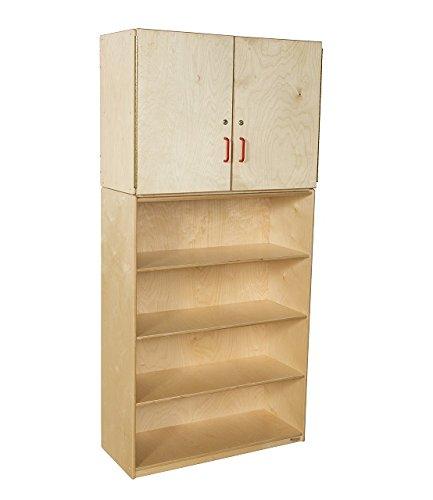 "Wood Designs WD56400 Baltic Birch Plywood Vertical Storage Cabinet 15x36x75"" (H x W x D)"