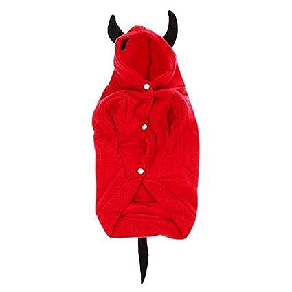 Amazon.com: Abrigo de Navidad para perro, disfraz de diablo ...