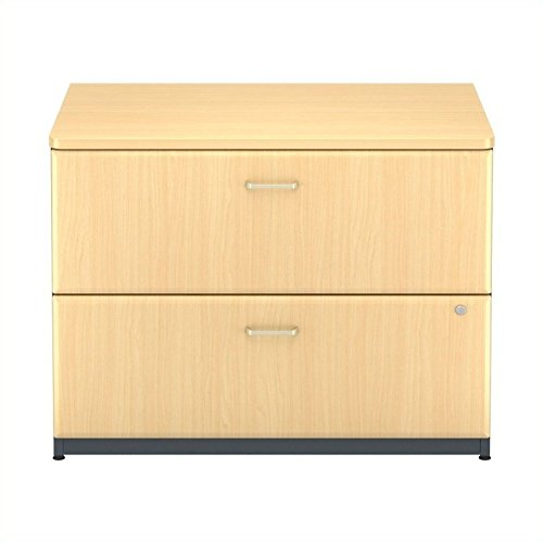 Bush Business Furniture WC14354P Series A 2 Drawer Lateral File, 36W, Beech/Slate