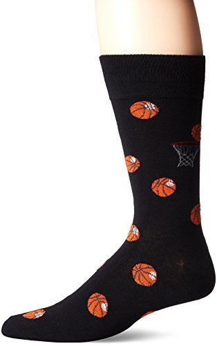 DAVCO Men's Basketball Crew Sock, Black, Sock Size:10-13/Shoe Size: 6-12 (Basketball Mens Tie)