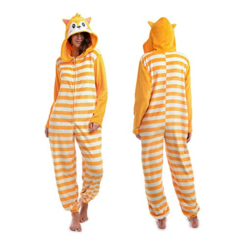 Body Candy Women's Animal Hooded Plush Critters, Foxy Medium