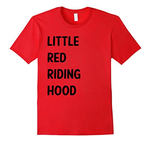 Mens Little Red Riding Hood Halloween Costume Shirt for Couples Large Red