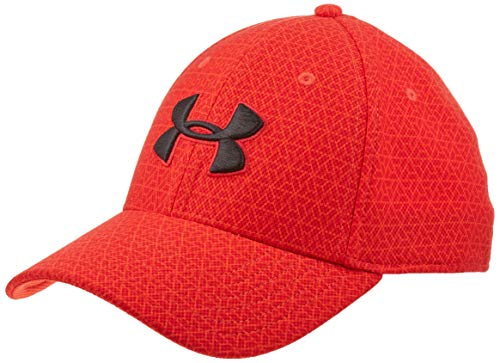 Under Armour Men's Printed Blitzing 3.0 Stretch Fit Cap, Radio Red (890)/Black, Large/X-Large -  Under Armour Accessories, 1305038-890-L/X-L