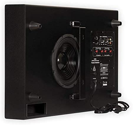 Theater Options SUB8S 250 Watt Encompass Sound HD Residence Theater Slim Powered Lively Subwoofer (Black)